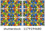 seamless multicolor pattern of... | Shutterstock .eps vector #1179194680