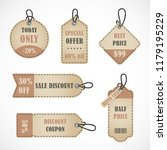 vector stickers  price tag ... | Shutterstock .eps vector #1179195229