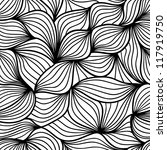 black and white seamless... | Shutterstock .eps vector #117919750