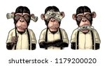 three wise monkeys with money... | Shutterstock .eps vector #1179200020