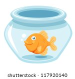 illustration of goldfish in a...