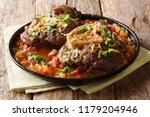 italian menu  braised veal... | Shutterstock . vector #1179204946