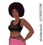 african american pretty girl... | Shutterstock .eps vector #1179207739