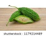 bitter melon or bitter gourd... | Shutterstock . vector #1179214489