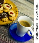 coffee and different types of... | Shutterstock . vector #1179216883