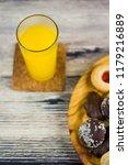 orange juice and different... | Shutterstock . vector #1179216889