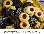 different types of cookies... | Shutterstock . vector #1179216919