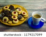 coffee and different types of... | Shutterstock . vector #1179217099