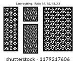 set of decorative vector panels ... | Shutterstock .eps vector #1179217606