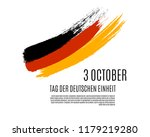 Germany Happy Unity Day translate in German. Grunge Deutschland flag isolated on white background. Federal Republic of Germany independence day placard with place for text. Vector illustration