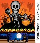 halloween poster with skeleton. ...   Shutterstock .eps vector #1179219649