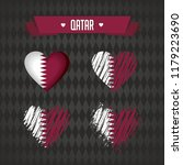 qatar with love. design vector... | Shutterstock .eps vector #1179223690