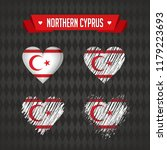 northern cyprus. collection of... | Shutterstock .eps vector #1179223693