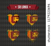 sri lanka heart with flag... | Shutterstock .eps vector #1179223696