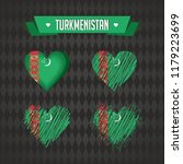 turkmenistan heart with flag... | Shutterstock .eps vector #1179223699