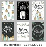 collection of christmas... | Shutterstock .eps vector #1179227716