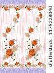 seamless floral textile border...   Shutterstock . vector #1179228040