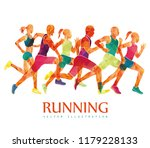 running marathon  people run  ... | Shutterstock .eps vector #1179228133