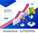 isometric analysis data and...   Shutterstock .eps vector #1179229936