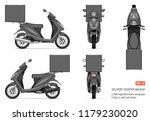 delivery scooter vector mockup... | Shutterstock .eps vector #1179230020