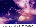 colorful night sky with cloud... | Shutterstock . vector #1179230983
