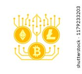 cryptocurrency flat icon.... | Shutterstock . vector #1179233203