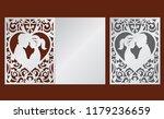 laser cut template of wedding... | Shutterstock .eps vector #1179236659