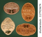 vintage labels with flowers | Shutterstock .eps vector #117923674