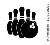 Bowling Icon  Silhouette  Logo...