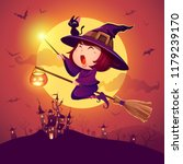 Halloween Flying Little Witch....