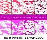 grunge set of seamless pattern... | Shutterstock .eps vector #1179242800