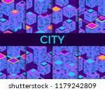 cityscape seamless pattern set. ... | Shutterstock .eps vector #1179242809