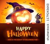 happy halloween  jack o lantern ... | Shutterstock .eps vector #1179243643