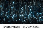 abstract glittering particles... | Shutterstock . vector #1179245353