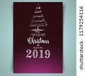 marry christmas and happy new...   Shutterstock .eps vector #1179254116
