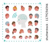 happy thoughts of the family   Shutterstock .eps vector #1179256546