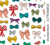 hand drawn various bow ties.... | Shutterstock .eps vector #1179256810