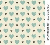 retro seamless pattern with... | Shutterstock . vector #117925780