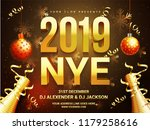 new year celebration poster... | Shutterstock .eps vector #1179258616