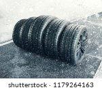 snow tires n the road  3d... | Shutterstock . vector #1179264163