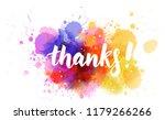 thanks  hand lettering phrase... | Shutterstock .eps vector #1179266266