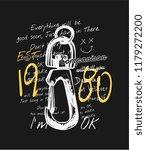 typography slogan with metal... | Shutterstock .eps vector #1179272200