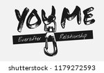 you me slogan with metal hook...   Shutterstock .eps vector #1179272593