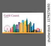 gold coast city architecture... | Shutterstock .eps vector #1179273850