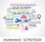 programming web banner. best... | Shutterstock .eps vector #1179275233