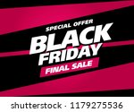 black friday sale banner layout ... | Shutterstock .eps vector #1179275536