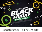 black friday sale banner layout ... | Shutterstock .eps vector #1179275539
