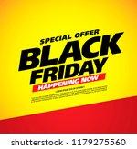 black friday sale banner layout ... | Shutterstock .eps vector #1179275560