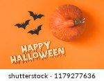 portrait from above of pumpkin... | Shutterstock . vector #1179277636