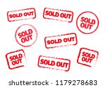 sold out stamps grunge texture. ... | Shutterstock . vector #1179278683